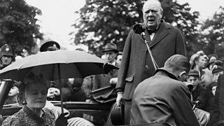 Ceannard nan Tòraidhean, Winston Churchill, aig àm an taghaidh, 1945