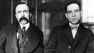 Suspected communists Ferdinando Nicola Sacco and Bartolomeo Vanzetti