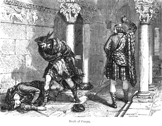 Engraving of the murder of John Comyn