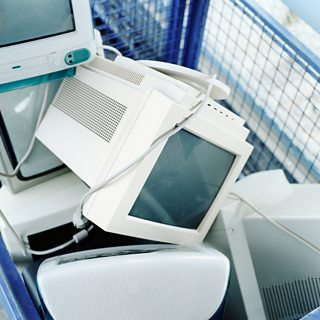 Old computers and monitors for recycling