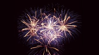Large fireworks display.