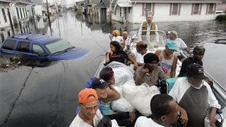 Flooding caused by Hurricane Katrina in New Orleans, 2005
