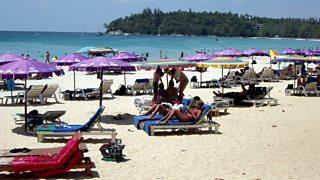 Popular tourist beach in Phuket, Thailand