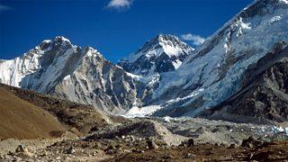 Mount Everest seen from Gorak Shep