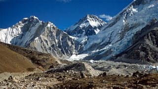 A view of the Himalayas from Gorak Shep