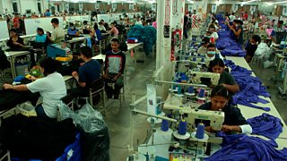 Employees of an assembly factory, making T-shirts in Honduras