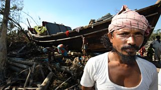 Bangladeshi villager affected by cyclone Sidr