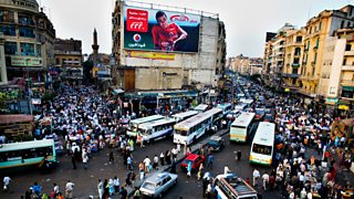 A busy junction in Cairo