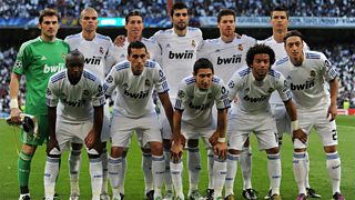 Multicultural Real Madrid football team