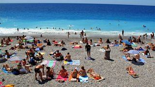 Sunbathers in Nice