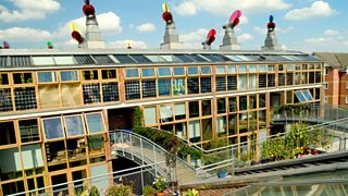 Bedzed, an energy efficient eco-village in Beddington, Surrey