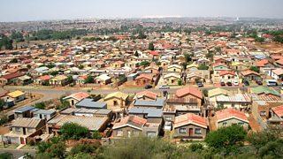 A crowded township in Soweto