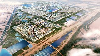 A proposal view of Masdar City in Dubai