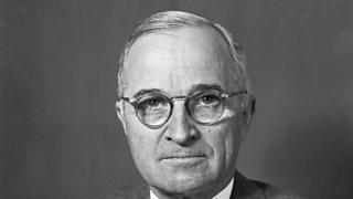 Portrait of American president Harry Truman