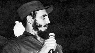 Fidel Castro speaking after the triumph of the revolution