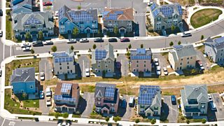 Solar panels provide electricity for affordable houses in California