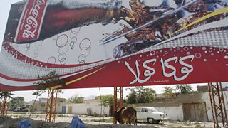Coca Cola advert in Kabul, Afghanistan