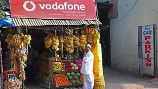 Vodafone advert in Kumily, India