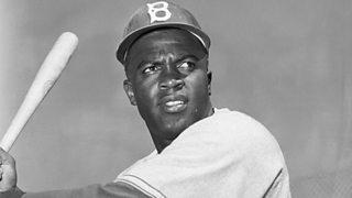 Baseball star Jackie Robinson