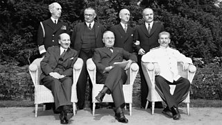 Important world figures at the Potsdam Conference.