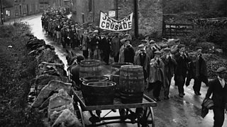 The Jarrow Crusade protest March.