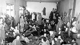 Prisoners in one of the holocaust camps