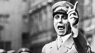 Joseph Goebbels making a speech in 1934
