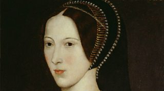 Portrait painting of Anne Boleyn in 1534 wearing costume of the period