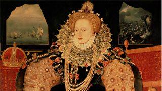 Portrait of Elizabeth 1 wearing costume of the period