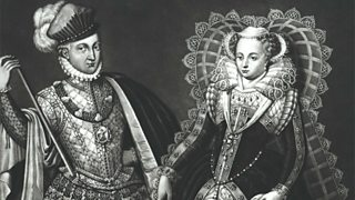 Mary Queen of Scots and Henry Stewart (Lord Darnley) wearing costume of the period