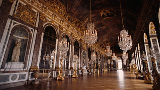 Photograph of the Hall of Mirrors in the Palace of Versailles