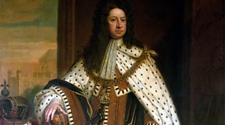 George I wearing costume of the period