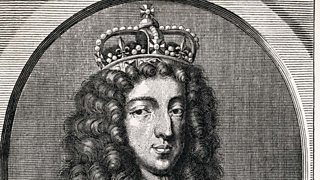 King William of Orange wearing a crown