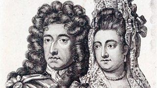 Engraving of King William and Queen Mary