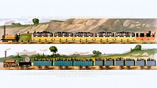 Illustration of the Liverpool and Manchester railways, 1831.