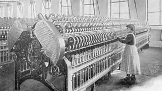 Illustration of a cotton mill