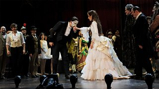 A scene from a production of Andrew Lloyd Webber's Phantom of the Opera