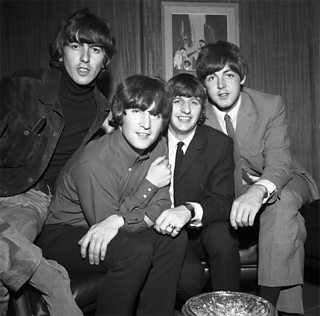 A photo of the Beatles