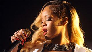R&B singer Rihanna performs