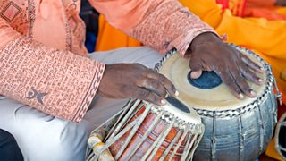 A man playing the tabla