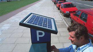 Solar-powered ticket machine