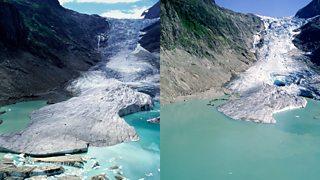 A melting glacier