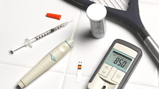 A range of tools used for monitoring and treating diabetes