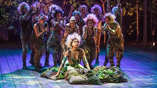 Performers onstage in The Old Globe Theatre's production of A Midsummer Night's Dream, 2013