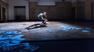 Two members of DV8 performing in Can We Talk About This?