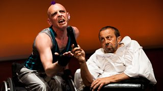 Nick Phillips and David Toole in In Water I'm Weightless