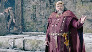 Anthony Hopkins as Hrothgar in the film Beowulf, 2007