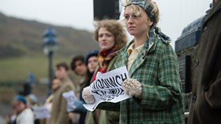 Actorion ar Bont Trefechan, Aberystwyth yn Y Bont, Theatr Genedlaethol Cymru, 2013