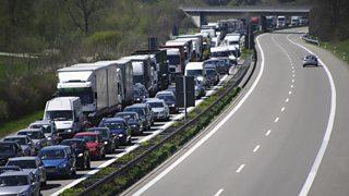 Traffic on the Autobahn, Germany