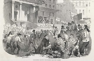 Hustings in London's Covent Gardens